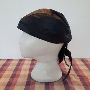 FIRST FI-CAP1 black 100% leather skull cap